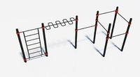 Комплекс Workout ( шведская стенка, рукоход змеевик, турник широкий хват, рурник узкий паралельный)+ бесплатная доставка от завода