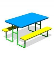 Лавка и стол VD-У-01 для детской площадки