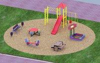 Уличная детская площадка с горкой
